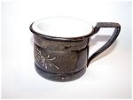Silver Plated Shaving Mug, Milk Glas Insert