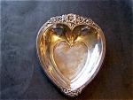 Silverplated Heart Shaped Tray