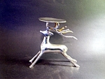 Silverplated Deer, Stag, Holder, Figurine