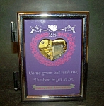 Anniversary, 25th, Photo Frame Music Box