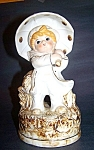 Music Box, Porcelai, Child With Open Umbrella