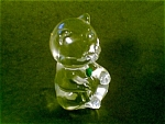 Fenton Crystal Birthday Bear Figurine