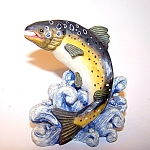 Porcelain Fish Figurine, Trout?