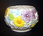 Floral Pottery Planter, Daisy Background