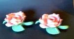 Rose Candleholders Pair, Set