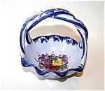 Blue Vestal Basket, Alcobaca Hndptd.