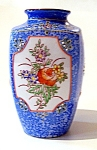 Blue Vase, Handpainted, Floral Design