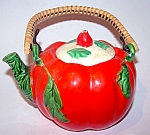 Tomato Teapot, Reed Handle