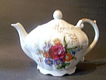 Teapot, Musical, Rose Decorated, Porcelain