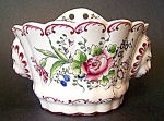 Wallpocket, Pottery, France, Floral Ptn.