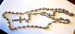 Goldtone Rosary, Silvertone Chain, Crucifix