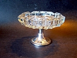 Crystal /silverplate Ashtray
