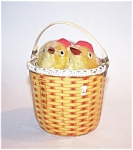 Wind Up Mechanical Chicks In A Basket