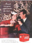 Coca Cola Ad Sheet Vintage Couple
