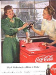 Coca Cola Ad Sheet Vintage Coke Cooler Chest