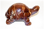 Brown Pottery Turtle Bank