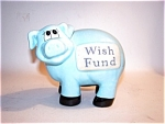 Blue Porcelain Pig, Piggy Bank