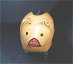 Wood Pig, Piggy Bank