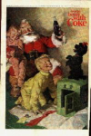 Santa Clause Coca Cola Ad Sheet