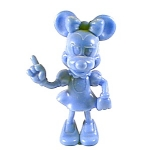 Blue Plastic Minnie Mouse Figurine