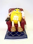 M & M Candy Dispenser Yellow/ Brown Chair