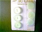 Buttons, 6 Light Green