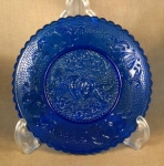 Boyd Cobalt Blue Heart And Lyre Cup Plate