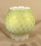 Murano Diamond Quilt Yellow Mop Rosebowl