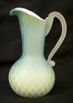 Murano Diamond Quilt Blue Mop Pitcher