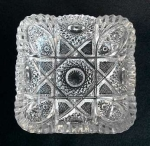 Imperial Glass Nucut Square Nappy #576 Eapg