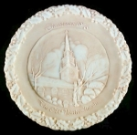Fenton Christmas Plate, Old North Church Nil Color