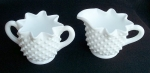 Fenton Milk Glass Hobnail Cream & Sugar