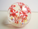 Gentile Glass Flowered Paperweight