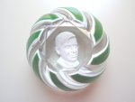 Baccarat Sulphide Paperweight Of Will Rogers