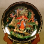 Vinogradoff Plate, Princess & Seven Bogatyrs
