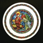 D'arceau Limoges Christmas Plate 1982