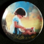 Zolan Miniature Plate, By Myself - Signed