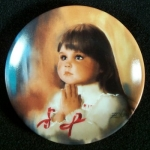 Zolan Miniature Plate, A Christmas Prayer