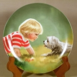 Donald Zolan Plate - Making Friends