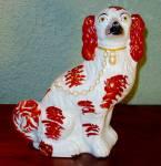 """Staffordshire King Charles Spaniel Figure, 11 1/2 """""""