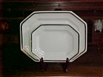 Nesting Set, Lustre Band White Ironstone Platters