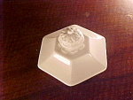Rare Ridgway Staffordshire Hexagonal Sugar Bowl Lid, Botanical Finial