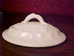 Staffordshire Oval White Ironstone Lid, 6 1/4 By 4 3/4, Wheat And Hops Shape