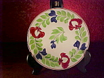 Early Staffordshire Hand-painted Plate, Virginia Pattern