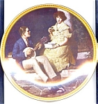 Norman Rockwell Vintage Plate 'pondering On The Porch'