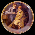 Norman Rockwell Plate 'confiding In The Den'