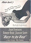 Joan Fontaine, Robert Ryan Ad Sheet
