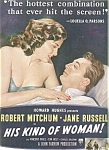 Jane Russell Robert Mitchum Ad Sheet