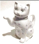 Cat Ceramic China Teapot Figurine