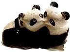Kissing Pandas Ceramic Figurine